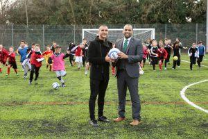 Football Star Open New Facilities At Merrill Academy